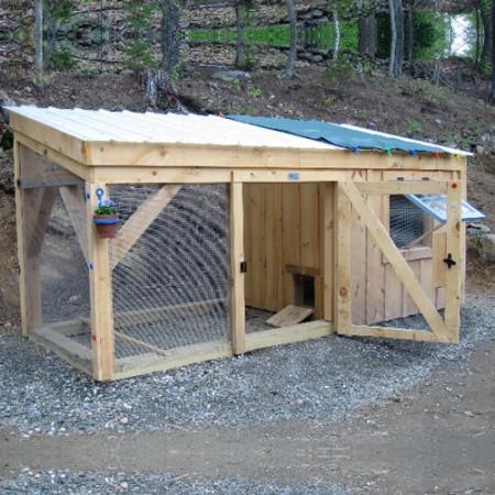 5x12 Chicken Coop - Exterior