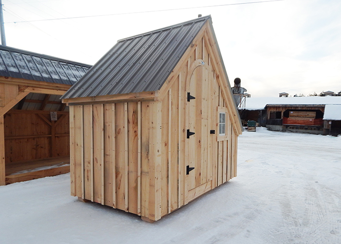 6x10 hardware shed charcoal gray roof