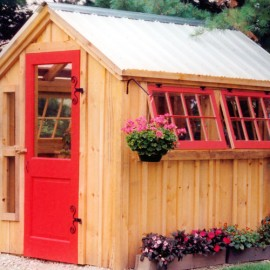 6x8 Greenhouse Exterior