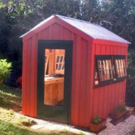 6x8 Greenhouse - Custom Exterior