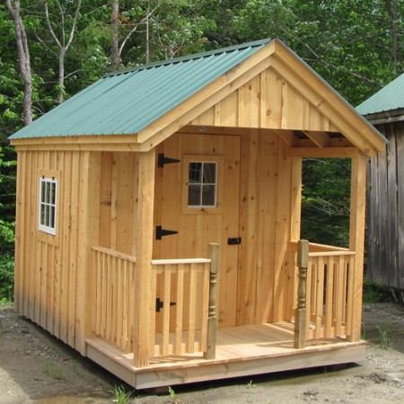 Cottage studio shed kits for sale joy studio design for Sheds with porches for sale