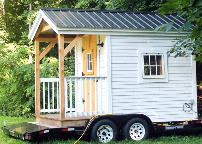 8x16 tiny house on wheels exterior 8x nook on a trailer - Tiny House On Wheels Plans