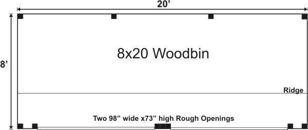 8x20 Woodbin Floorplan