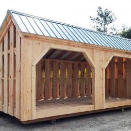 8x20 Woodbin - Alternating Siding