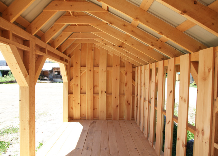 Woodbin 8x jamaica cottage shop for Post and beam barn plans and pricing