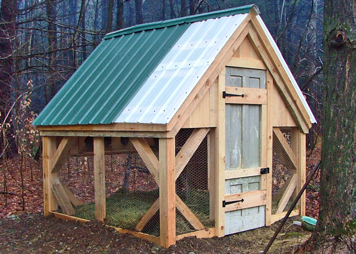8x8 chicken coop medium sized hen house pre cut kit free for Shed plans for sale
