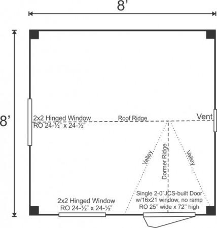 8x8 Dollhouse Floorplan