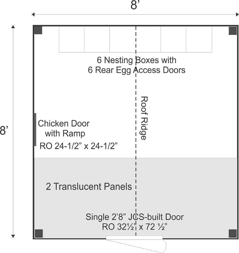 Chicken Coop 8x8 Floor Plan