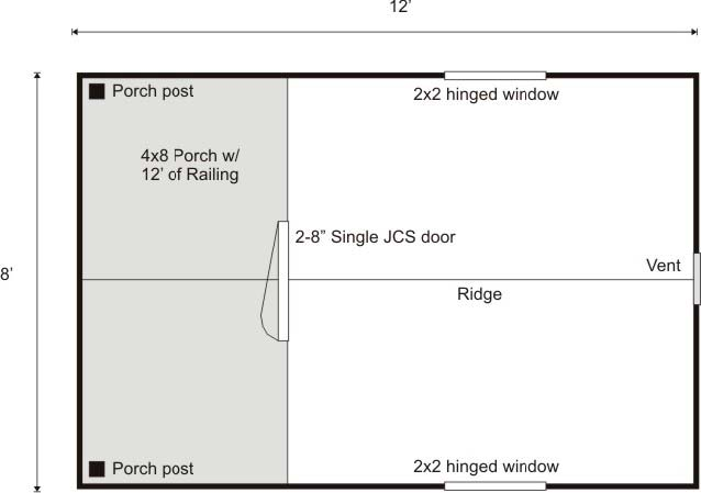 Garden Shed Floor Plan