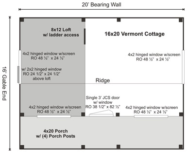 Vermont Cottage Option A Floor Plan