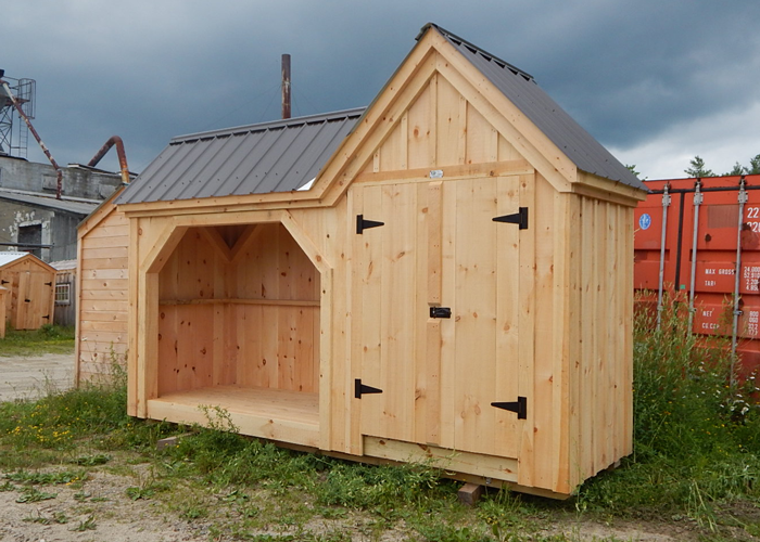 Garden Sheds Vermont firewood storage shed | garbage can storage shed