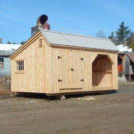 12x16 Weekender - Custom built with an ash gray roof and a barn sash window