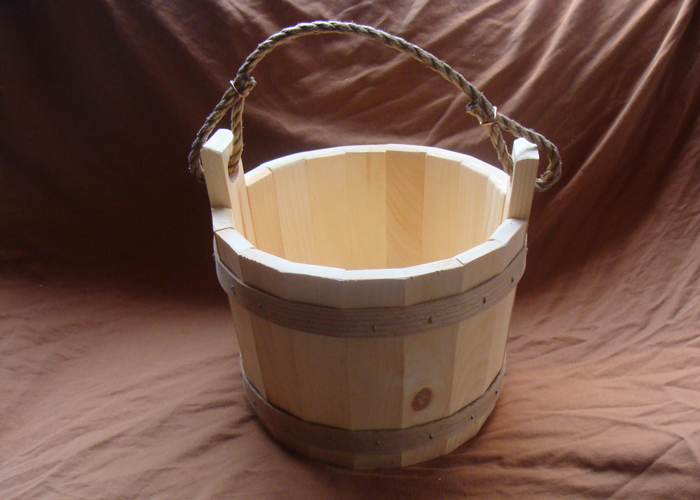 Wooden Wishing Well Bucket For Your Garden Or Well