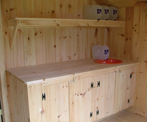 Camping Cabin Kitchenette