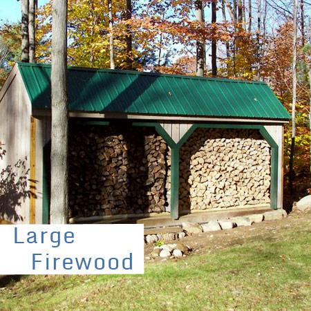 Large Firewood Storage Sheds