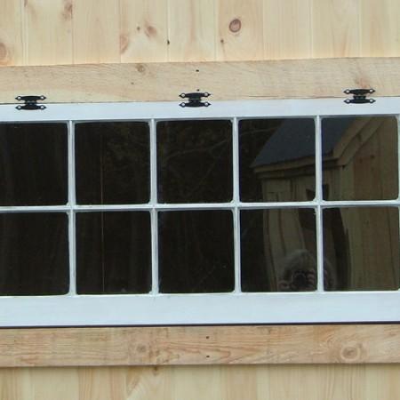 "48""x24"" ten true divided lights hinged window"