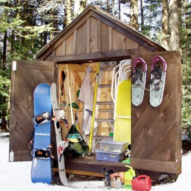 4x6 Gable - Winter sports storage