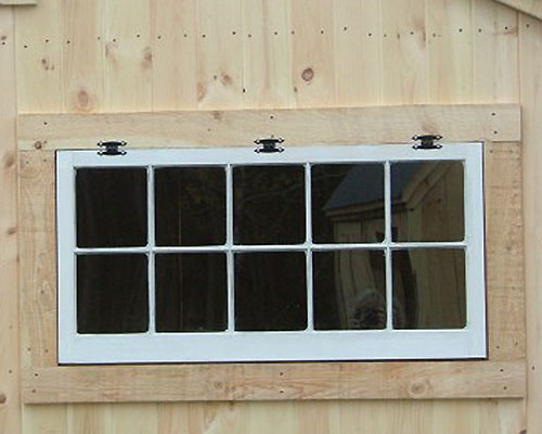 "Ten true divided lights 48""x24"" hinged window"