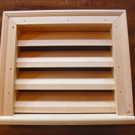 Wood Louvered Vent