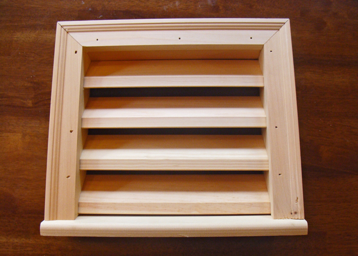 Wooden louvered vents wood louvered vents for Garden shed ventilation