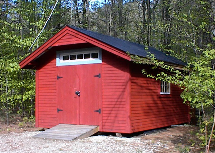 10x gable custom built shed exterior