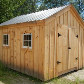 10x14 Gable - Post and beam shed exterior