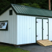 12x20 Custom Saltbox Shed Exterior