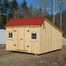 12x12 Saltbox - shown with an autumn red roof
