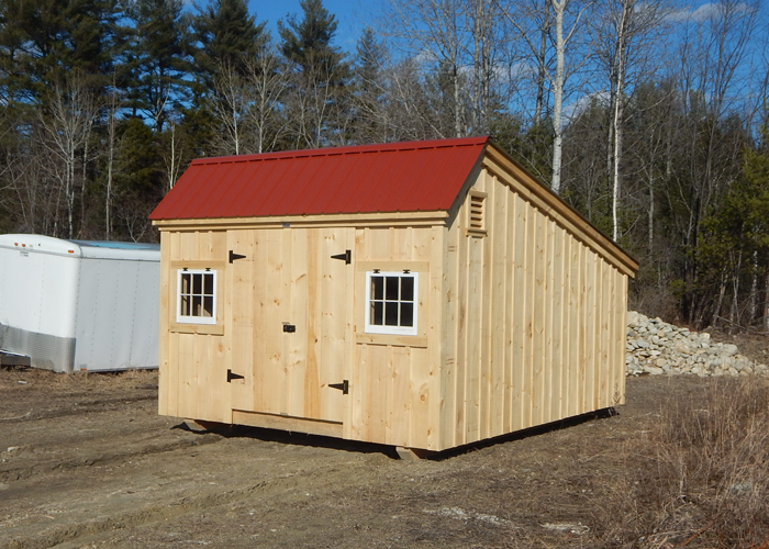 12 x 16 steel shed installed tahoe 10 ft x 12 fancy for Board and batten shed plans
