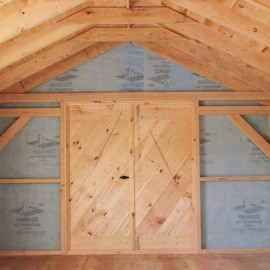 12x20 Gable - Custom workshop interior