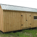 12x20 Custom Saltbox Exterior with alternative window placement