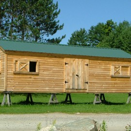 12x30 Custom built gable barn exterior