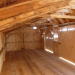 12x32 Three Sled Shed Interior