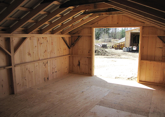 X Barn Interior Post Beam Hemlock Frame Kit Tennessee