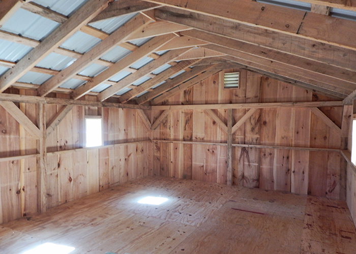 14x20 barn for Post and beam shed plans