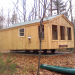14x26 Camping cabin, off grid, on concrete slab.