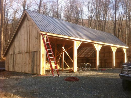 Three sided shed open sheds wood store shed for Saltbox barn