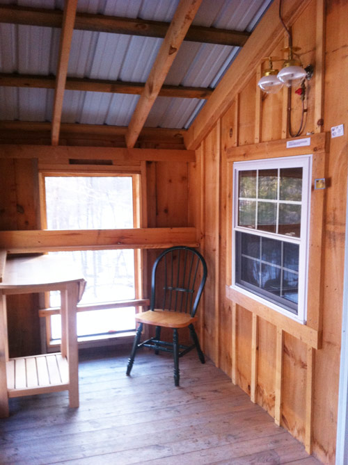 14x26 Camping Cabin Interior