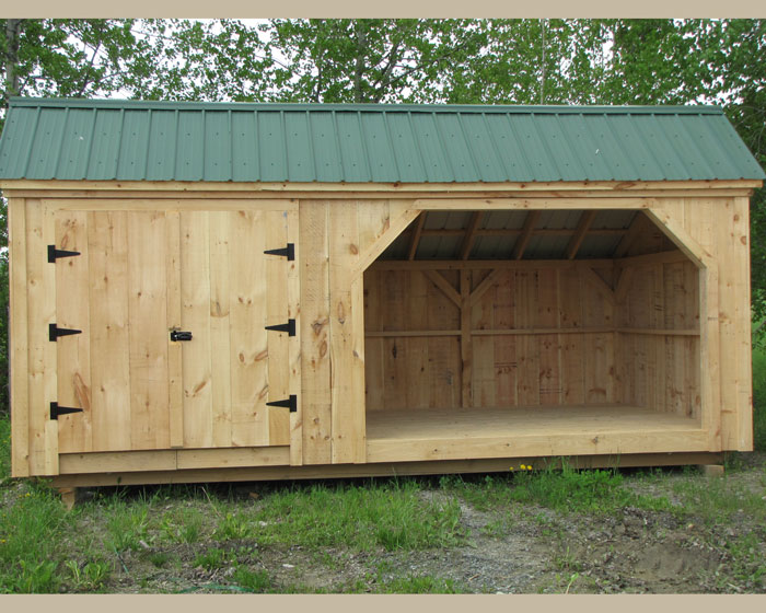 How to build a wooden shed from scratch quick for Post and beam shop plans