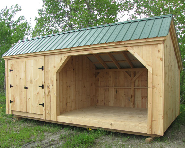 3 5 cord wood shed and storage building for Wood shed plans