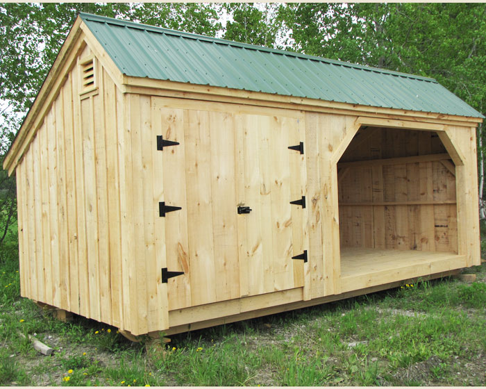 10x20 Weekender combination firewood storage shed