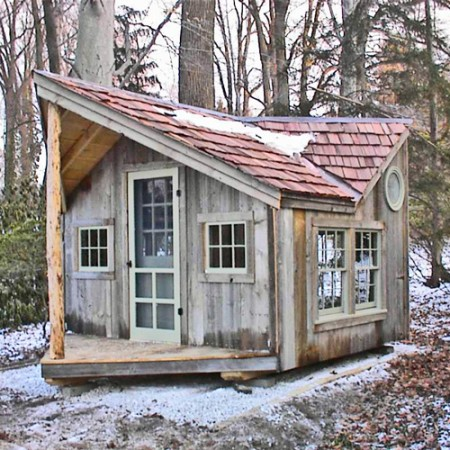 11x16 backyard retreat tiny house with porch cedar - Small Cabins For Sale