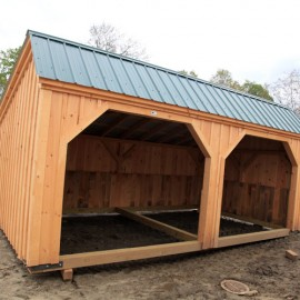 12x16-Run-in-Shed-post-beam-goat-barn-livestock-shelter