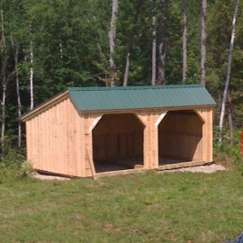 12x20-Run-In-Shed-post-beam-livestock-barn-sheep-shelter