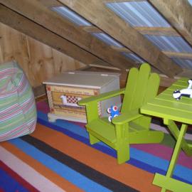 16x20 Vermont Cottage - Interior Loft