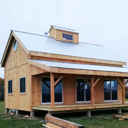 Kits for 20 x 30 timber frame cabin jamaica cottage shop for Steel frame cabin