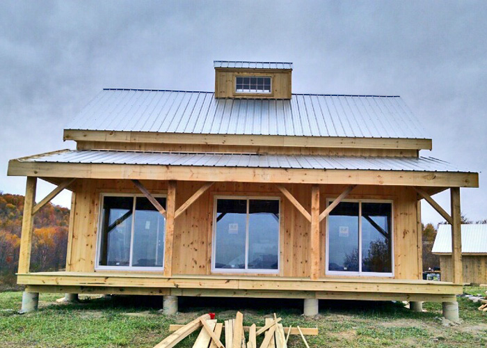 kits for 20 x 30 timber frame cabin jamaica cottage shop roof snow removal homesteading forum