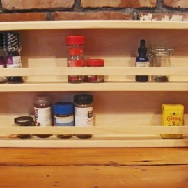 24 Inch Pine Spice Rack