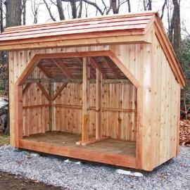 4x10 Woodbin - Cedar shake roof