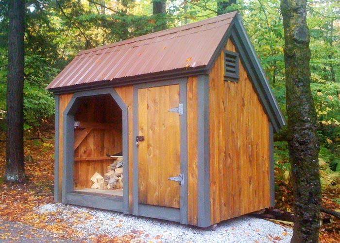 Firewood storage shed kit wood sheds for firewood for Custom storage sheds